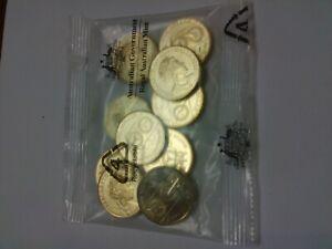 2020-Australia-100-years-Qantas-1-dollar-coin-mint-bag-of-10-coins-UNC-RAM