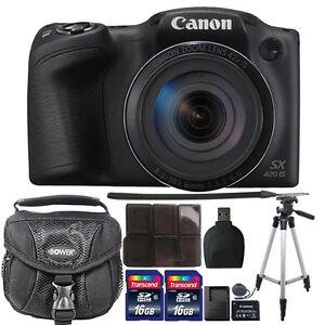Canon-PowerShot-SX420-IS-HD-Wi-Fi-20MP-fotocamera-digitale-32GB-Kit-Di-Accessori-Nero