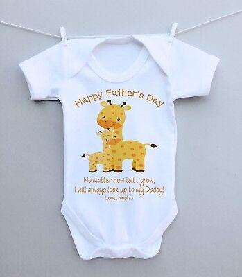 Personalisierte Baby Bodysuit Weste Wachsen 1st Vatertag