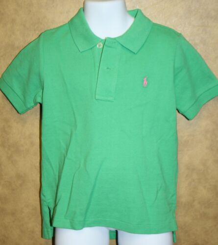 Polo Ralph Lauren Green Short Sleeve Mesh Shirt Pink Pony Logo RET 39 NWTS