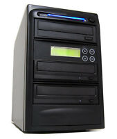 2 Drive 24x Lightscribe Cd Dvd Disc Duplicator Labeler Printer Device Equipment