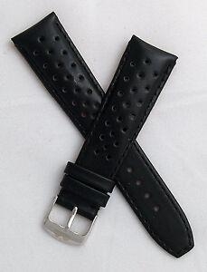 22-mm-negro-Deportes-cuero-reloj-correa-de-ajuste-Tag-Heuer-Monaco-Reedicion-Modelos