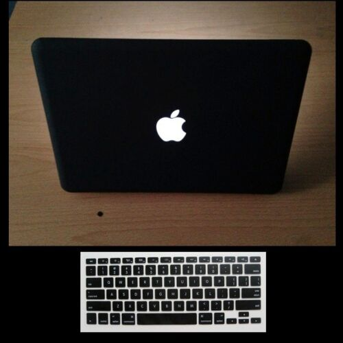 "2 in 1 Black Rubberized Case for MacBook Pro 15.4/"" NON-RETINA+Keyboard Cover"