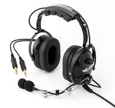 Rugged Air RA200 Piloten-Headset mit Rauschunterdr/ückung GA-Doppelstecker und MP3-Musikeingang