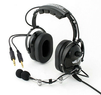 Brand New Rugged Air Stereo RA900 General Aviation PNR Headset For Pilots