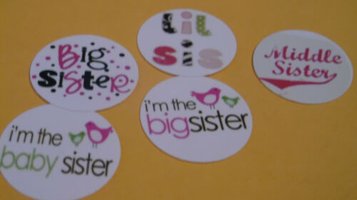Pre Cut One Inch Bottle Cap Images Baby Middle Big Sister Free Shipping