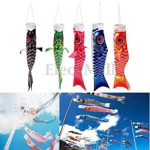 40cm-100cm-Koi-Nobori-Carp-Wind-Sock-Koinobori-Fish-Kite-Flag-Hanging-Decor