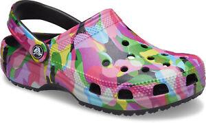 crocs Clog mit Fersenriemen Classic Bubble Block Clog Black/Multi Croslite Norma