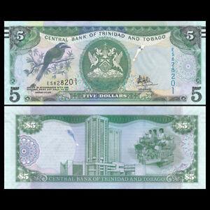 2006 P-NEW 2015 Trinidad and Tobago 5  Dollar UNC New Sign