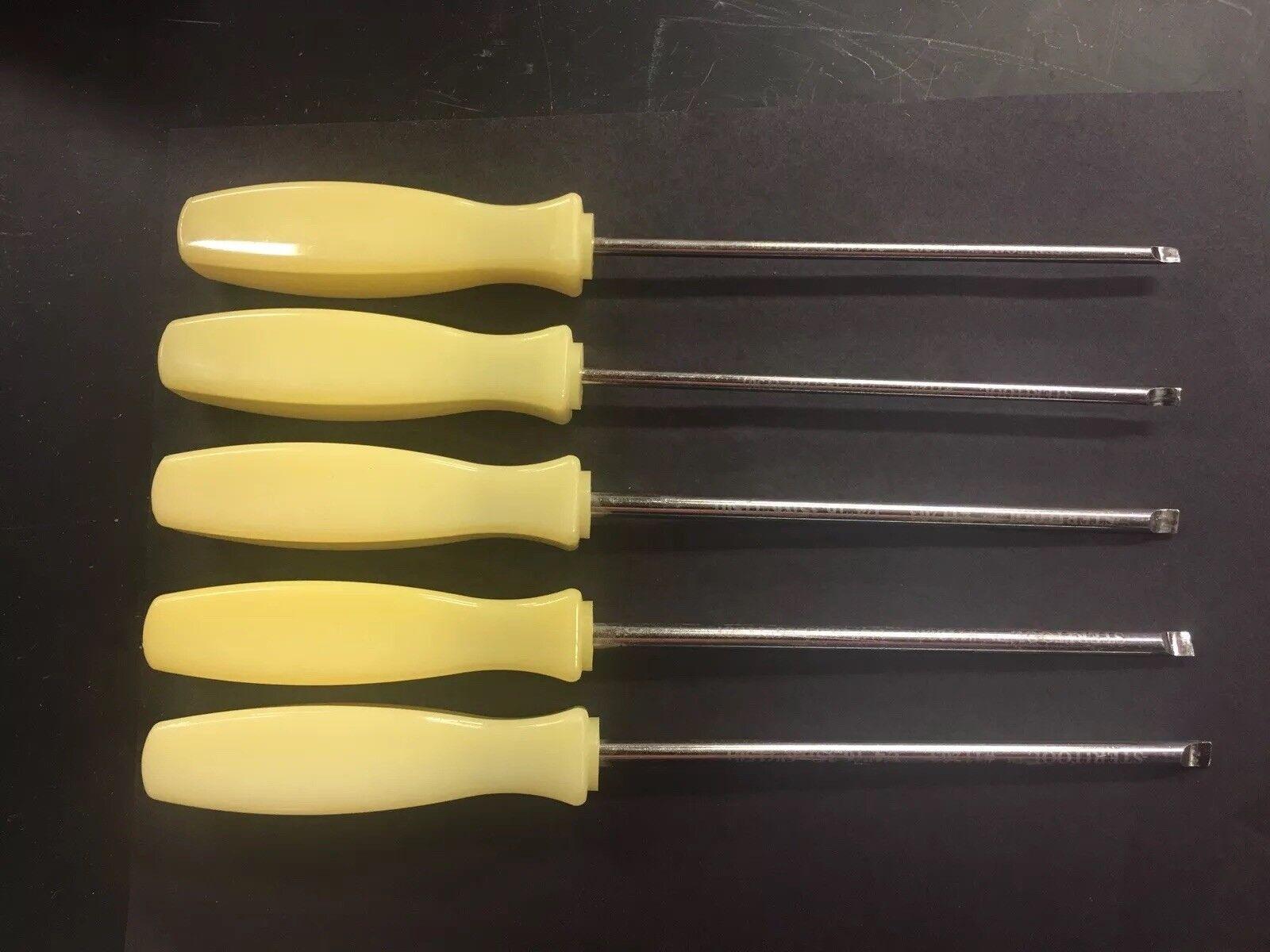 Steritool Stainless Steel Straight Blade Screwdrivers Nylon Handles Used Set of5