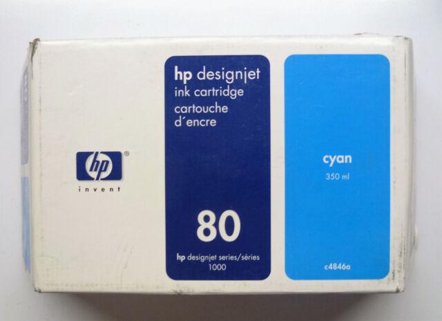 HP 80 cyan C4846A 350ml DesignJet 1000 1050 1055 ---------------- OVP 24/03/2006