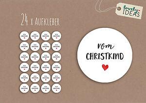 24-Geschenkaufkleber-40mm-weiss-Weihnachten-Merry-Christmas-Christkind-Nikolaus