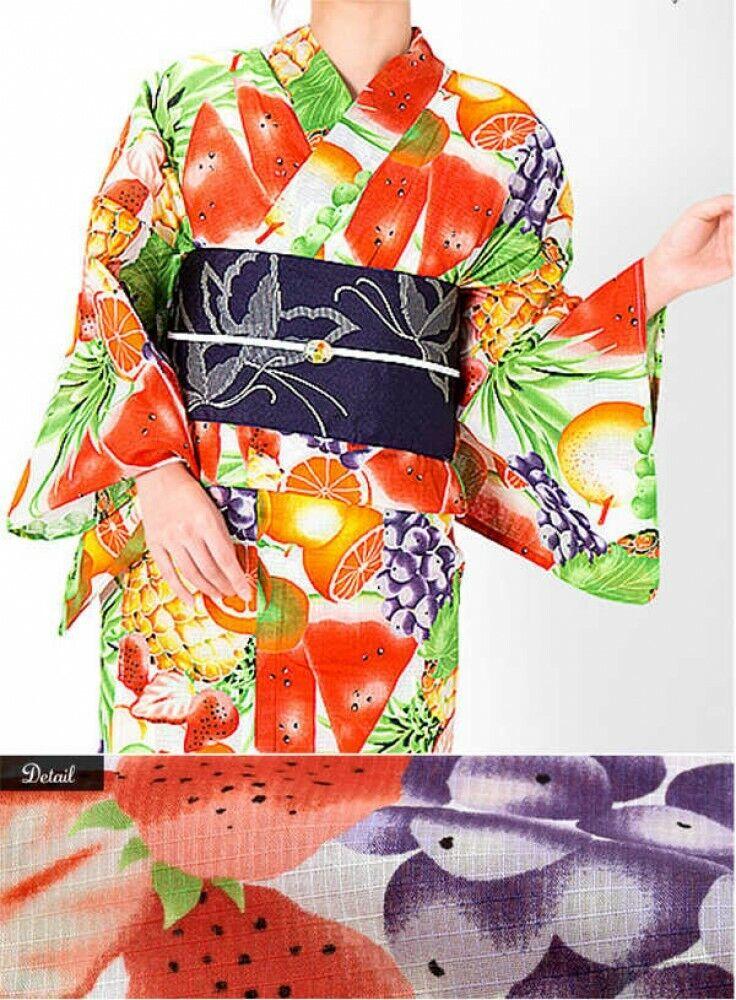 Japanese Women's Yukata Kimono Obi japanese footwear Set 19 Japan with Tracking