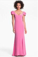 NWOT ABS by Allen Schwartz Pink rosette maxi open back Dress gown Size 12 - $495