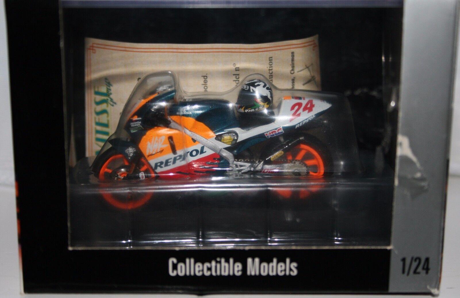 Takuma Aoki Repsol Honda NSR500 V Twin 1997 with Helmet 1 24 ONYX
