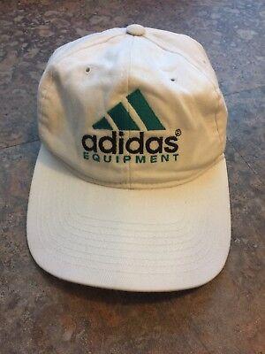 Vintage VTG Adidas Equipment Trefoil 90s White Dad Baseball Hat Cap 7b65c8fe9528