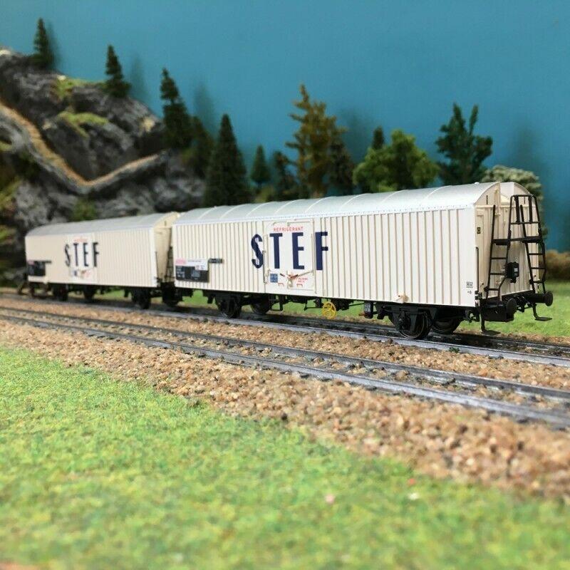 Coffret de 2 wagons couverdes STEF SNCF ép IVHO187LSmodelloloS 30228