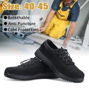 Hommes-Chaussures-de-Securite-Bout-en-Acier-Mode-Bottes-de-Travail-Respirable