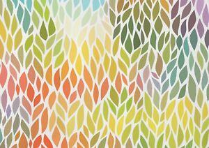 A1 | Colourful Leaf Pattern Poster Art Print 60 x 90cm 180gsm Nature Art #14132