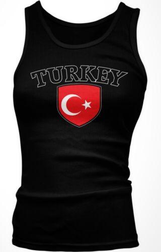 Turkey Flag Crest Turkish Turkiye National Country Pride Boy Beater Tank Top