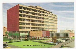 Canada-Edmonton-039-s-New-City-Hall-Old-Postcard-A823