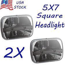 2x 5'' x 7'' Cree Square LED Headlights 87-95 Jeep Wrangler YJ 84-01 Cherokee XJ