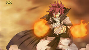 Details About Anime Fairy Tail Natsu Dragneel Silk Poster 24 X 14 Inch Wallpaper