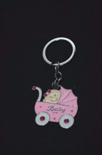 12-Baby Shower Girl Party Favors Keychains Favor Pink Recuerdos De Nina Llaveros