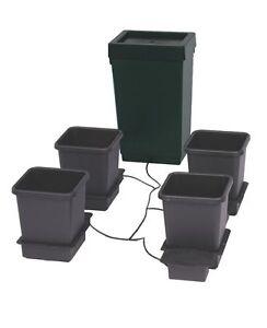 15-L-auto-pot-4-Pot-GROW-Systeme-Auto-Alimentation-systeme-47-L-Reservoir-Hydroponics