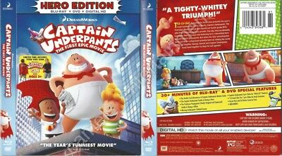 Captain Underpants The First Epic Movie Slipcover Only For Blu Ray Ebay