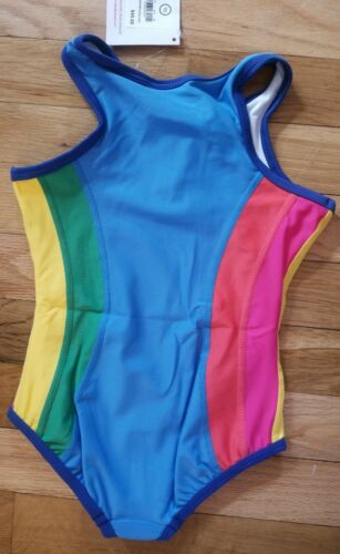 NWT HANNA ANDERSSON SPORTY RAINBOW ONE PIECE SWIMSUIT 90 3T NEW $40
