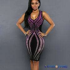 Womens Bandage Bodycon Summer Holiday Evening Party Cocktail Mini Dress Clubwear