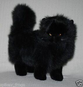 new black cat kitten standing soft pet animal plush toy 30cm 12inch ebay. Black Bedroom Furniture Sets. Home Design Ideas