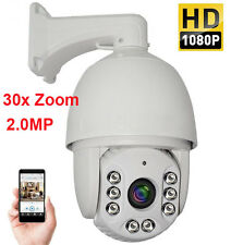 30X ZOOM HD 1080P 2.0 MP Outdoor PTZ IP Speed Dome Camera IR Night CMOS 7'' AUTO
