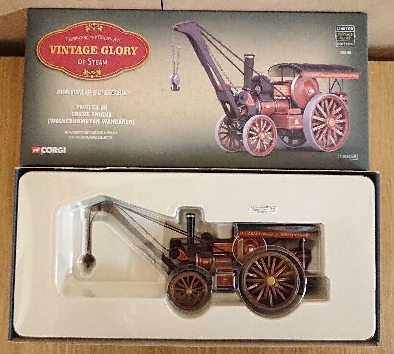 Corgi 80108 Fowler B6 Crane Engine Wolverhampton Wanderer Ltd Edition