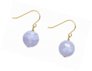Lola Rose Women Blue Agate Dangle and Drop Earrings 696562