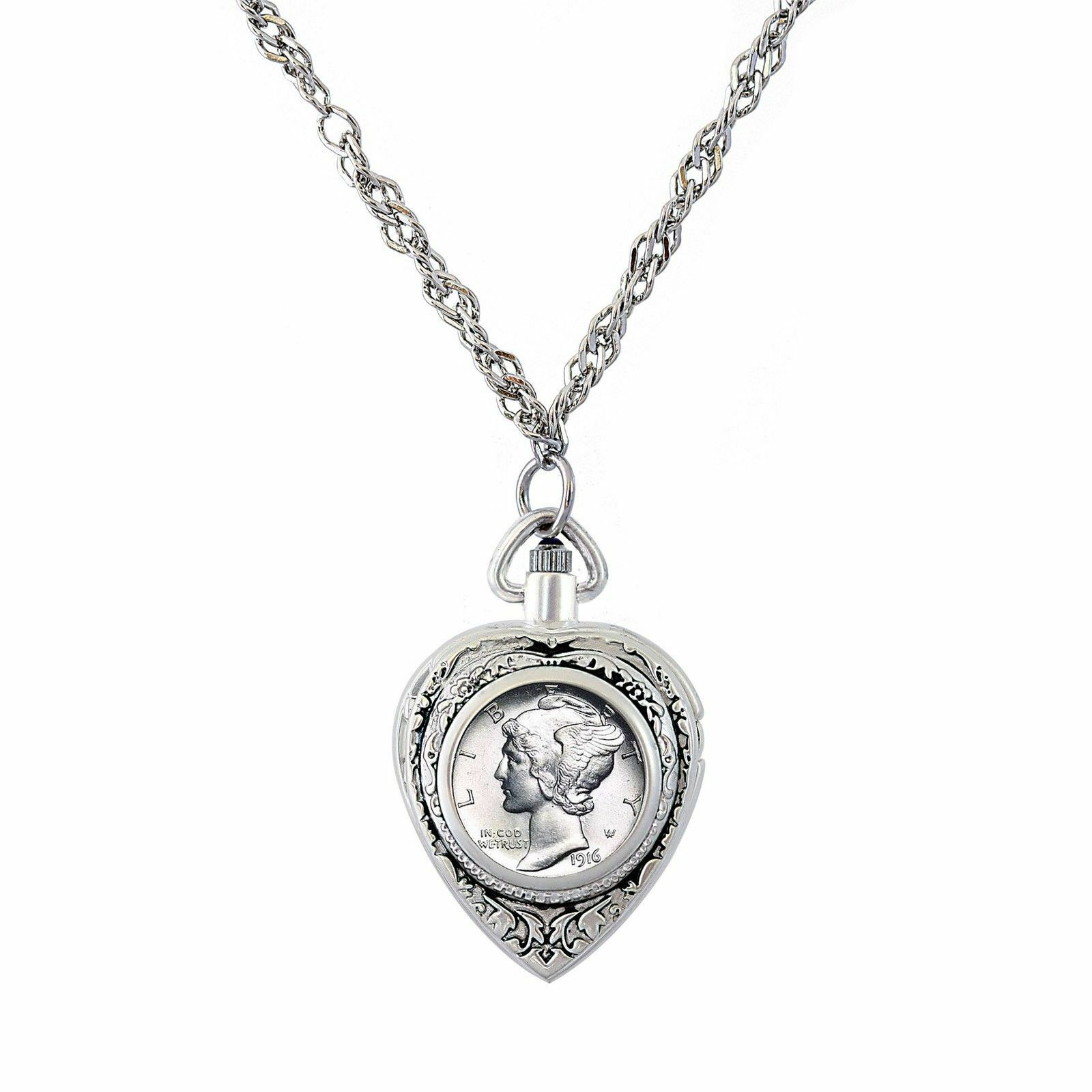 NEW American Coin Treasures Year to Remember Heart Watch Dime Coin Pendant 1951