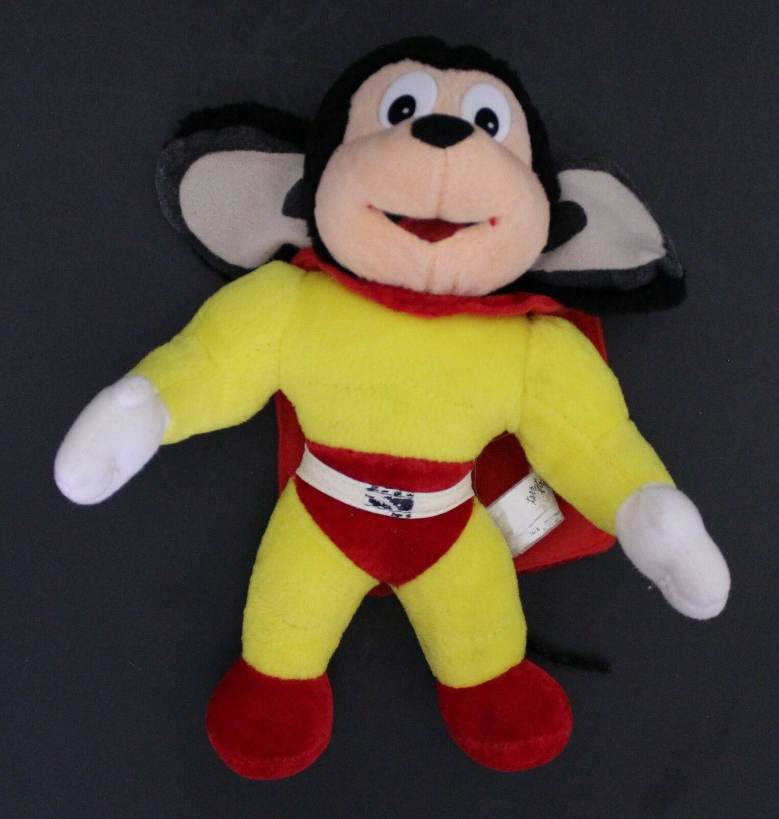 2005 Play-By-Play Terrytoons MIGHTY MOUSE semi-hard plush 25 cm. tall VGood cond