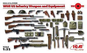 Dettagli Su O Icm 35688 Armi Equipaggiamenti Usa Della Prima Guerra Mondiale 135
