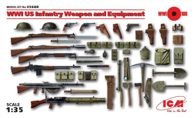 o ICM 35688 - Armi Equipaggiamenti USA della Prima Guerra Mondiale (1/35)