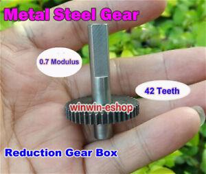 Gear-Reduction-Motor-Gear-Box-0-7-Modulus-42-Teeth-Metal-Steel-Gear-Wheel-Motor