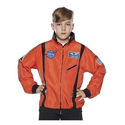 Child Boys White NASA Space Commander Astronaut Halloween Costume Flight Jacket