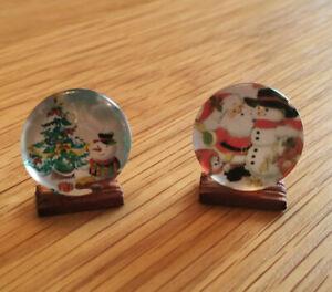 1-12-Dolls-House-miniature-Christmas-Plates-Ornament-Handmade-Decoration-LGW