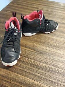 Nike Air Jordan Jumpman Team II GG Shoes Size 5Y Black/ Pink 820276-006