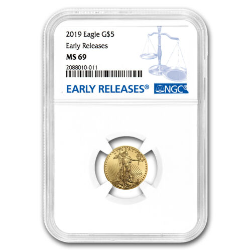 SKU#171554 Early Releases 2019 1//10 oz Gold American Eagle MS-69 NGC