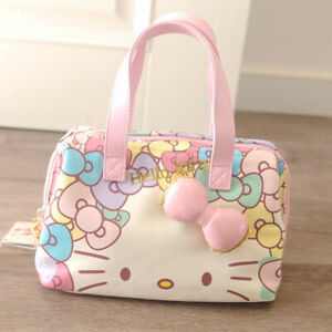 Hello-kitty-lovely-travel-bag-handbag-bowknot-duffle-bag-PU-waterproof-pink