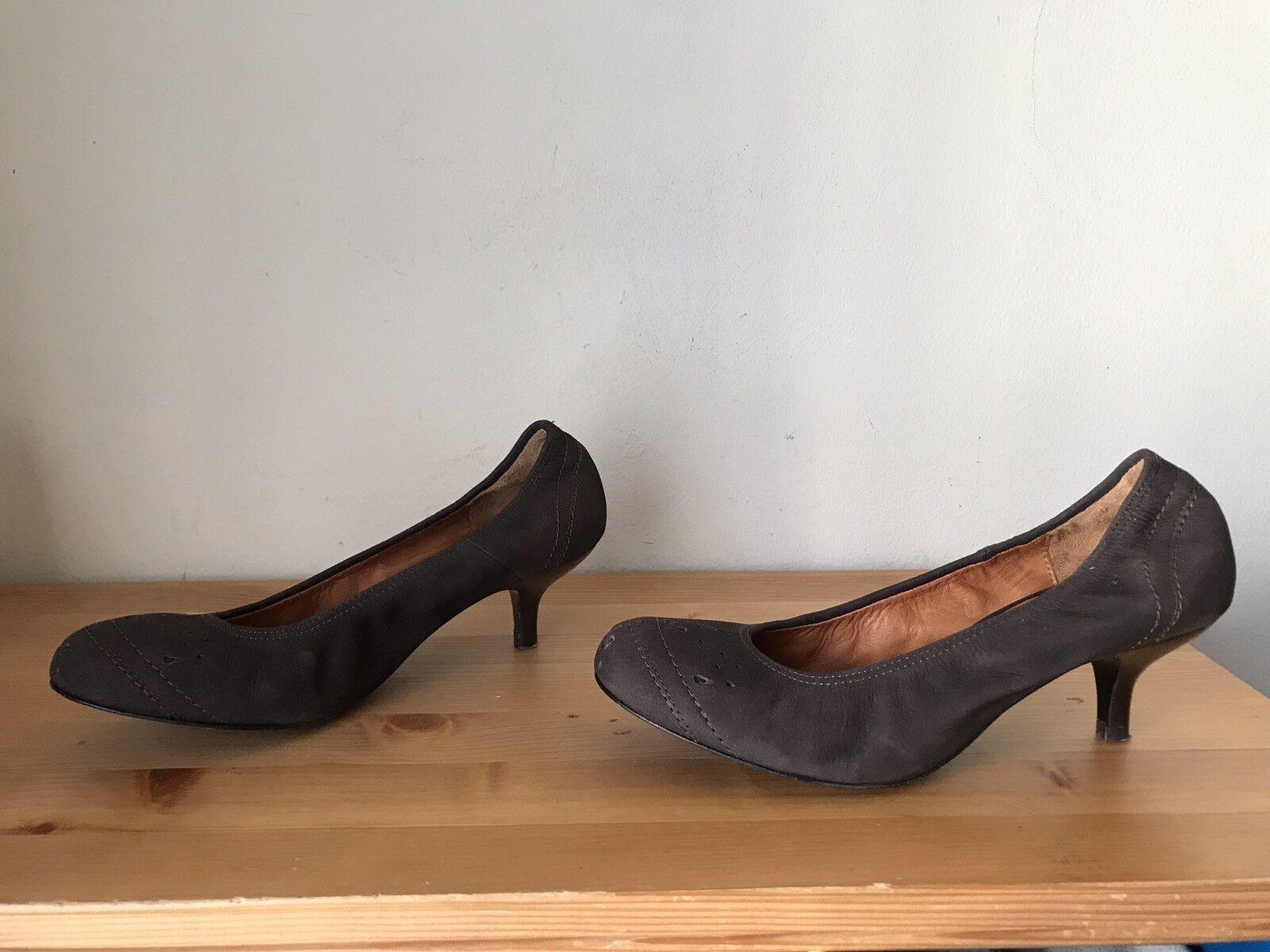Lanvin Marrón Marrón Marrón Cuero Láser Zapatos De Salón Tacón Gatito Talla 40 US 8.5  envío gratuito a nivel mundial