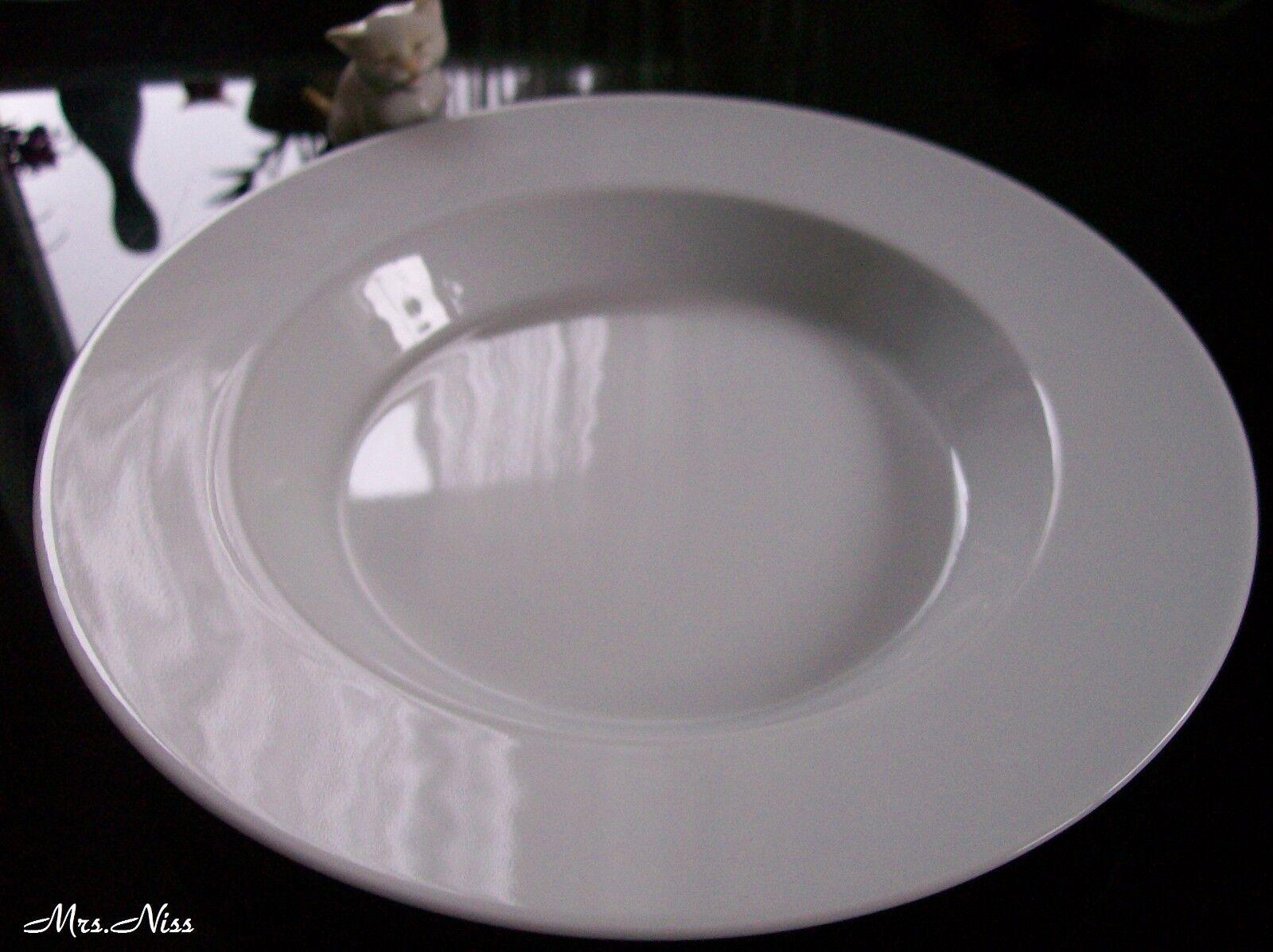 Rosenthal culture Blanc 4 x assiettes à soupe 25 cm  NEUF 1. choix