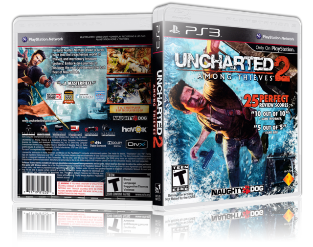 Uncharted 2 Among Thieves Replacement Ps3 Cover And Case No
