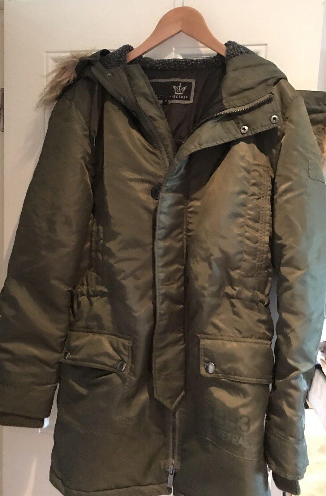 Firetrap Parka style Coat - Green - M - BNW